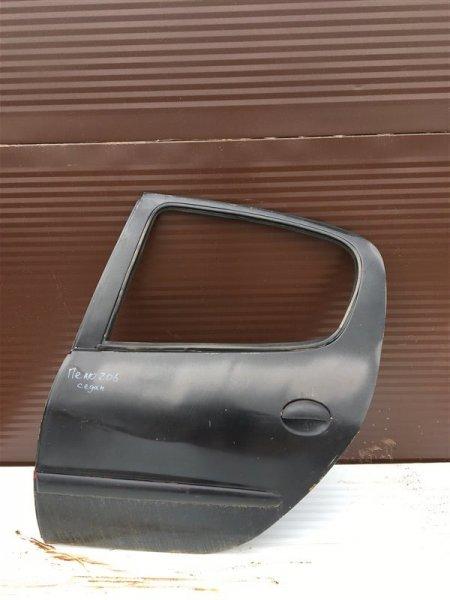 Дверь Peugeot 206 2B KFW 2007 задняя левая (б/у)