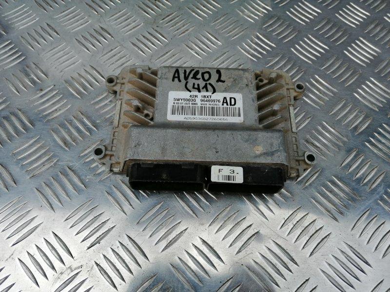 Блок управления двигателем Chevrolet Aveo T250 B12D1 2008 (б/у)