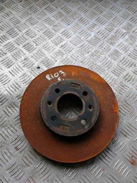 Тормозной диск Kia Rio 3 QB G4FC 2014 передний левый (б/у)