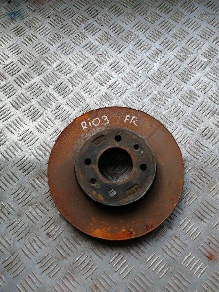Тормозной диск Kia Rio 3 QB G4FC 2014 передний правый (б/у)
