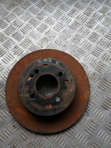 Тормозной диск Kia Rio 3 QB G4FC 2014 задний правый (б/у)