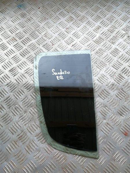 Стекло глухое Renault Sandero BS12 K7M 2012 заднее правое (б/у)