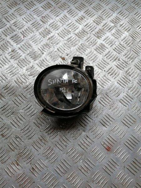 Фара противотуманная Hyundai Santa Fe CM G4KE 2010 передняя правая (б/у)