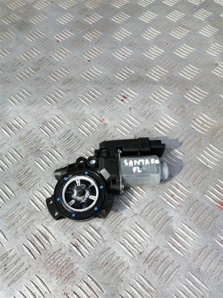 Моторчик стеклоподъемника Hyundai Santa Fe CM G4KE 2010 передний левый (б/у)
