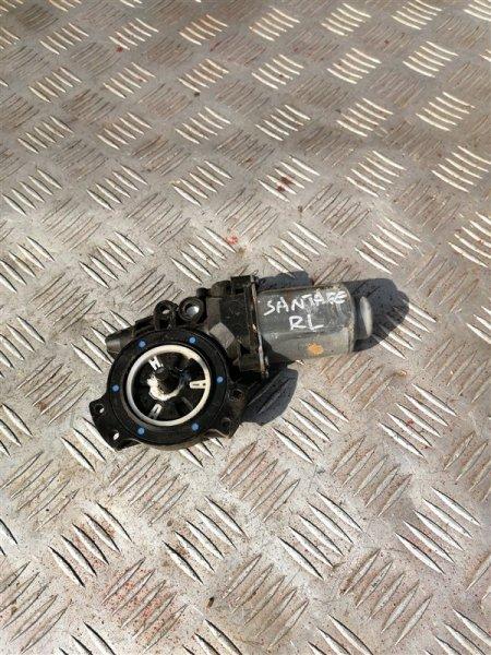 Моторчик стеклоподъемника Hyundai Santa Fe CM G4KE 2010 задний левый (б/у)