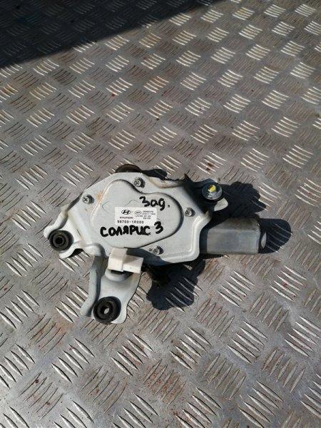 Моторчик дворников задний Hyundai Solaris RB G4FC 2011 задний (б/у)