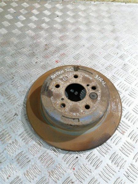Тормозной диск Lifan X60 LFB479Q 2014 задний правый (б/у)