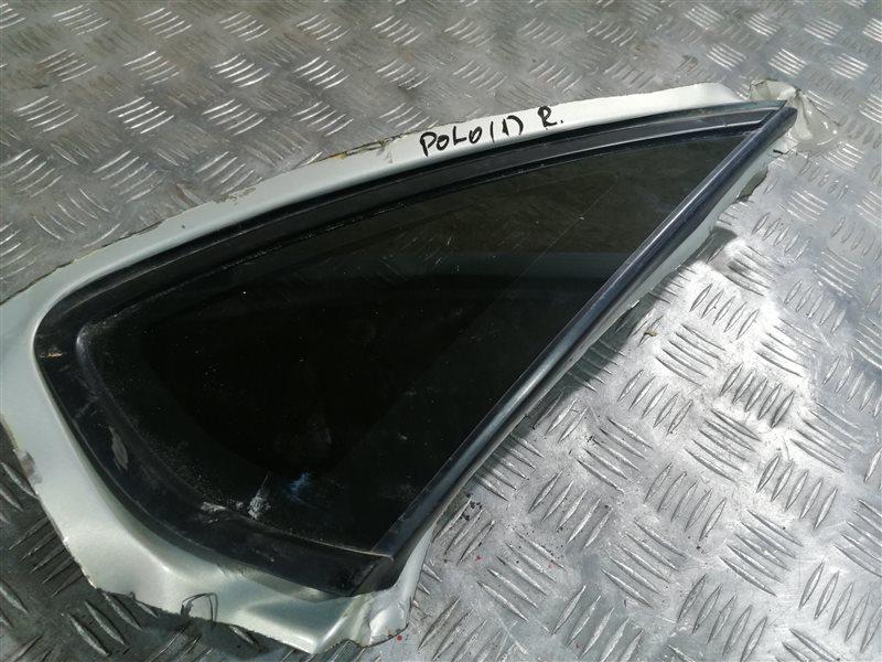 Стекло глухое Volkswagen Polo 612 CFNA 2013 заднее правое (б/у)