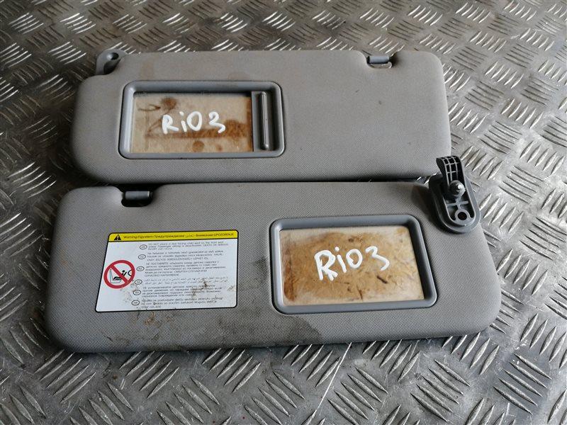 Козырек солнцезащитный Kia Rio 3 QB G4FC 2014 (б/у)