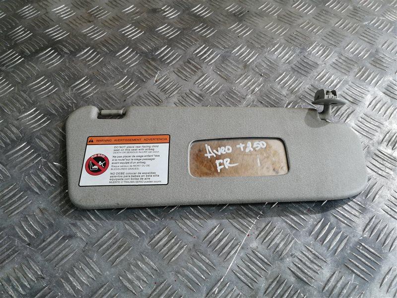 Козырек солнцезащитный Chevrolet Aveo T250 F14D4 2008 передний правый (б/у)