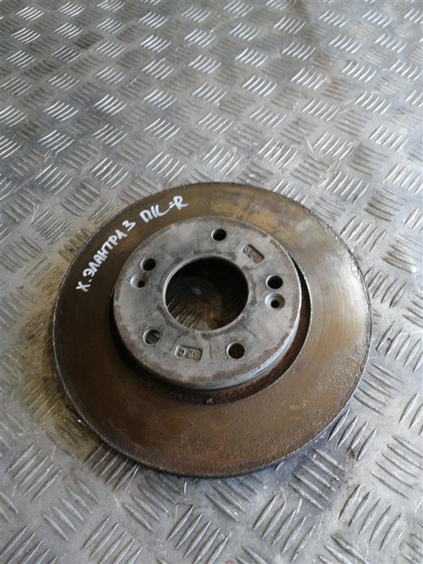 Тормозной диск Hyundai Elantra HD G4FC 2008 передний левый (б/у)