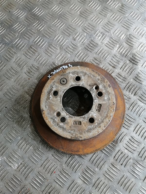 Тормозной диск Hyundai Elantra HD G4FC 2008 задний левый (б/у)