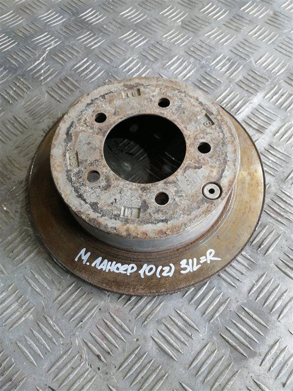 Тормозной диск Mitsubishi Lancer 10 CY2A 4A91 2008 задний левый (б/у)