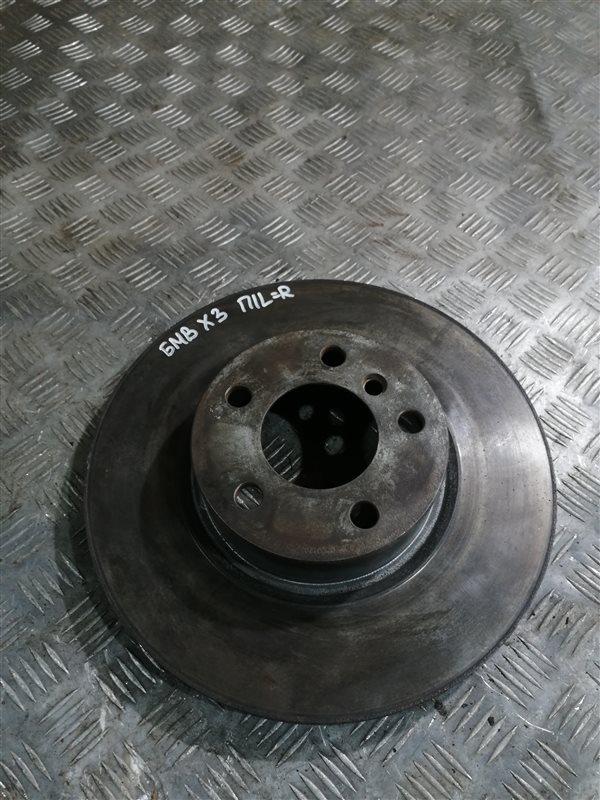 Тормозной диск Bmw X3 F25 N47D20C 2013 передний левый (б/у)