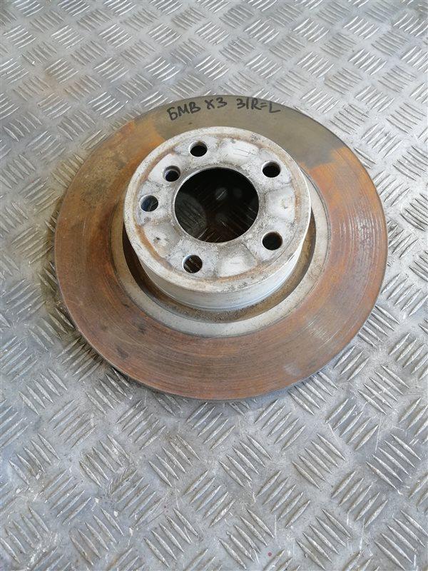 Тормозной диск Bmw X3 F25 N47D20C 2013 задний правый (б/у)