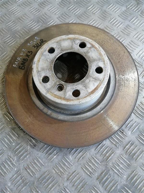 Тормозной диск Bmw X3 F25 N47D20C 2013 задний левый (б/у)