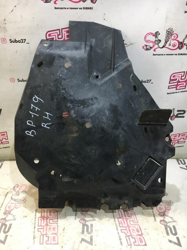 Защита бака Subaru Legacy BP5 EJ20X 2008 правая (б/у)
