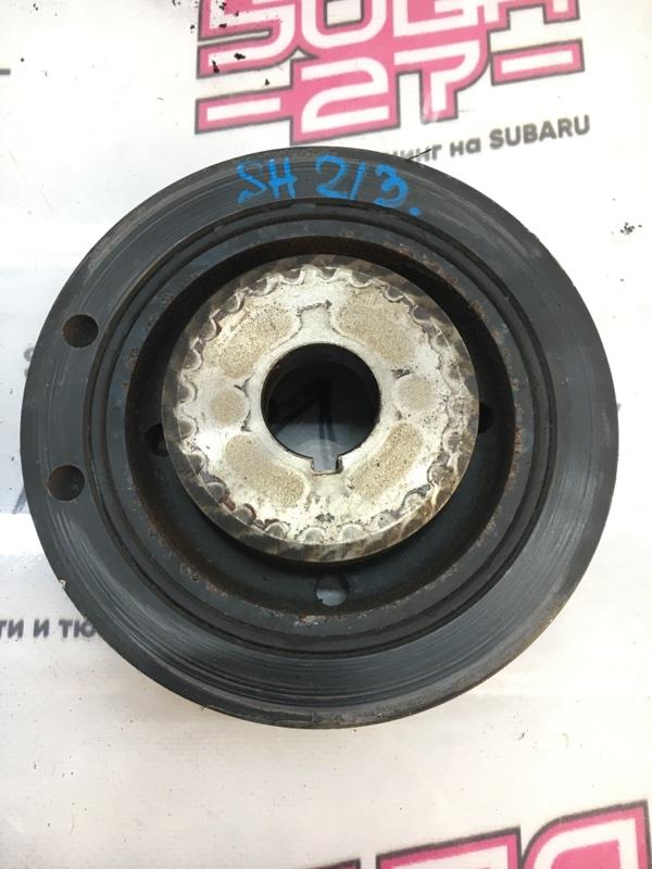 Шкиф коленвала Subaru Forester SH5 EJ204 2008 (б/у)