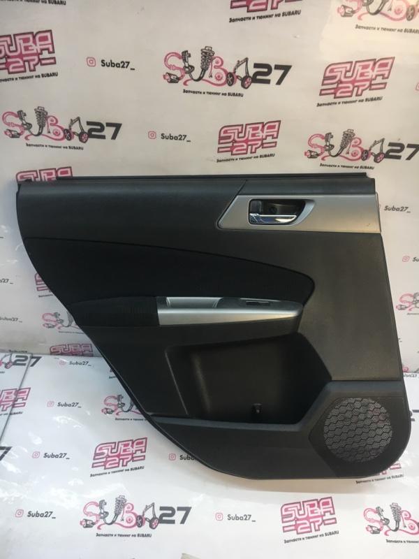 Обшивка двери Subaru Forester SH5 EJ204 2010 задняя левая (б/у)