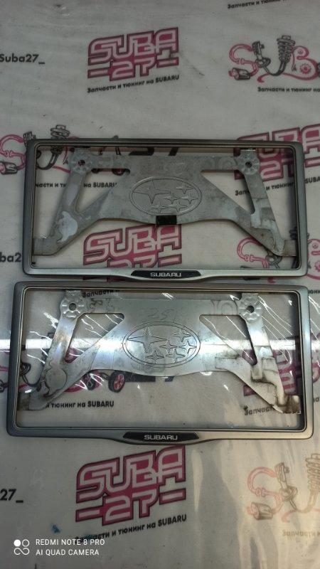 Рамка для номера Subaru Outback BP9 EJ253 2005 (б/у)