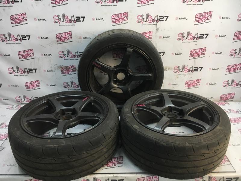Комплект из 3-х колёс R18 / 245 / 40 Bridgestone Potenza 5x114.3 лит. 35ET  (б/у)