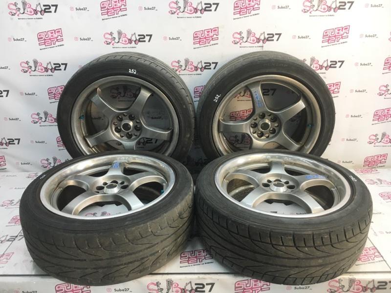 Комплект из 4-х колёс R18 / 225 / 45 Dunlop Direzza DZ101 5x100 лит. 40ET  (б/у)