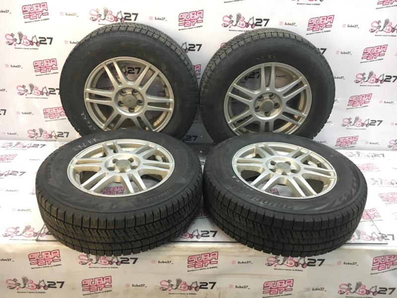 Комплект из 4-х колёс R16 / 215 / 65 Bridgestone Blizzak VRX 2 5x100 лит. 48ET  (б/у)