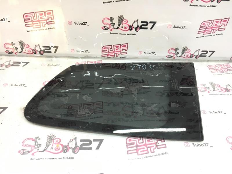 Стекло собачника Subaru Forester SH5 EJ205 2010 заднее правое (б/у)