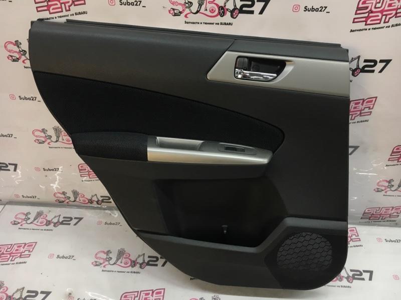 Обшивка двери Subaru Forester SH5 EJ204 2008 задняя левая (б/у)