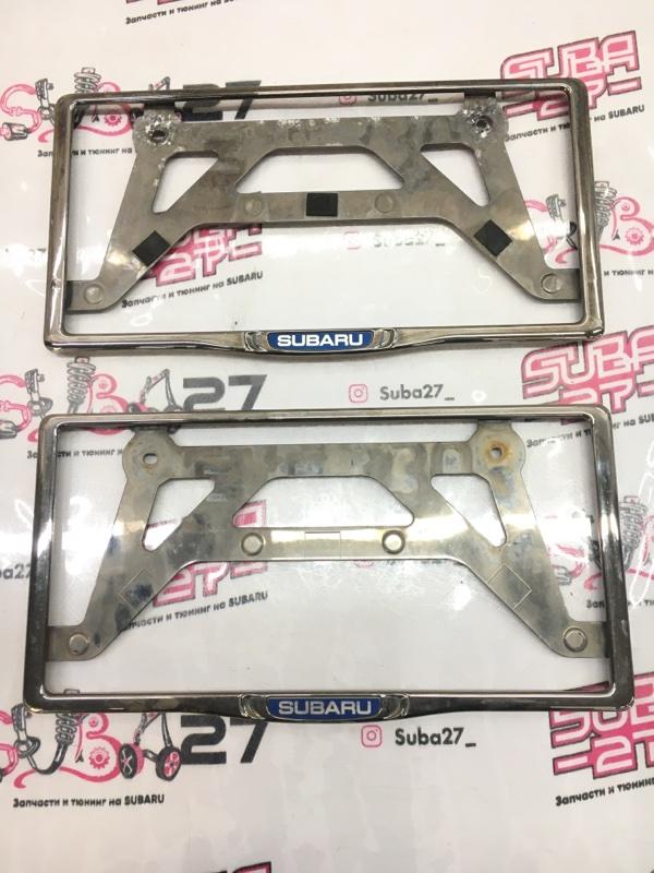 Рамка для номера Subaru Forester SJG FA20 2013 (б/у)
