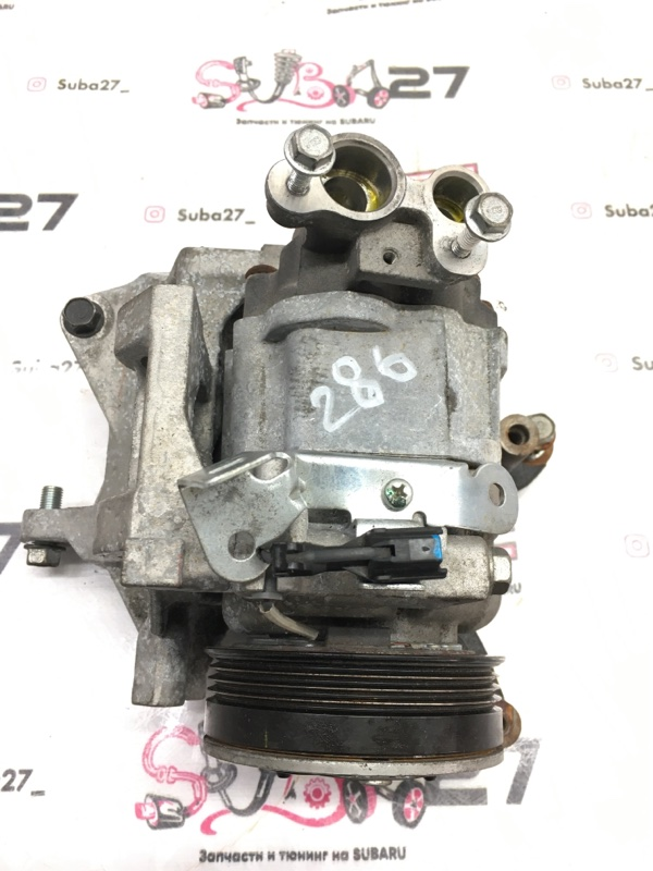 Компрессор кондиционера Subaru Impreza GRB EJ207 2013 (б/у)