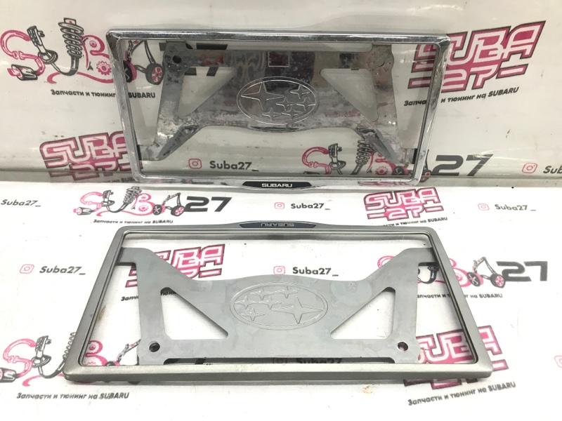 Рамка для номера Subaru Legacy BP5 EJ20X 2004 (б/у)