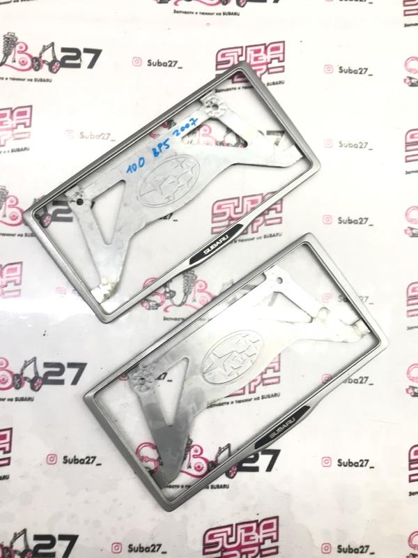 Рамка для номера Subaru Legacy BP5 EJ20X 2007 (б/у)