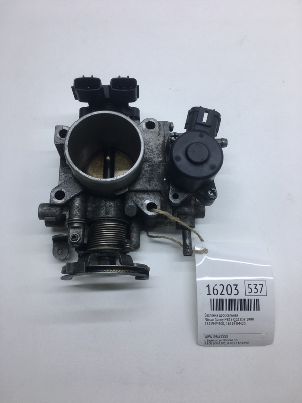 Заслонка дроссельная Nissan Sunny FB15 QG15DE 1999 (б/у)