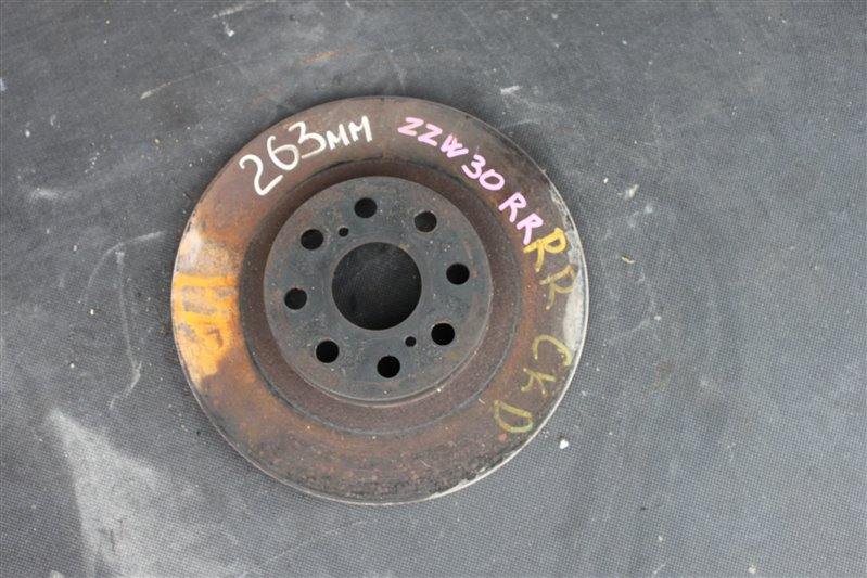Тормозной диск Toyota Mr-S ZZW30 1ZZ-FE задний правый (б/у)