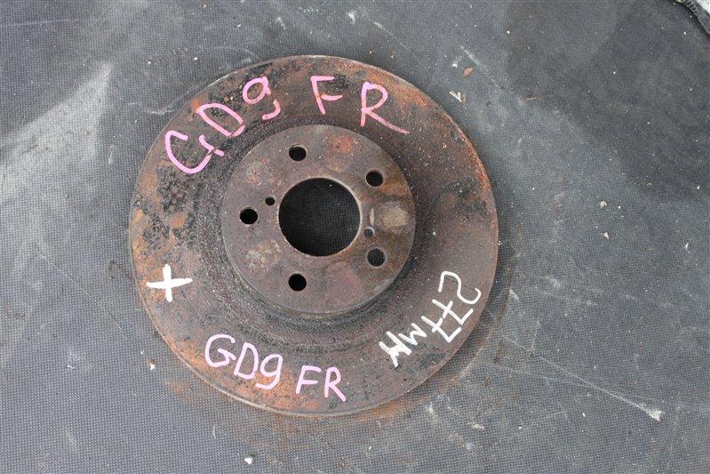 Тормозной диск Subaru Impreza GD9 передний правый (б/у)