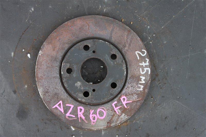 Тормозной диск Toyota Noah AZR60 1AZ-FSE передний правый (б/у)