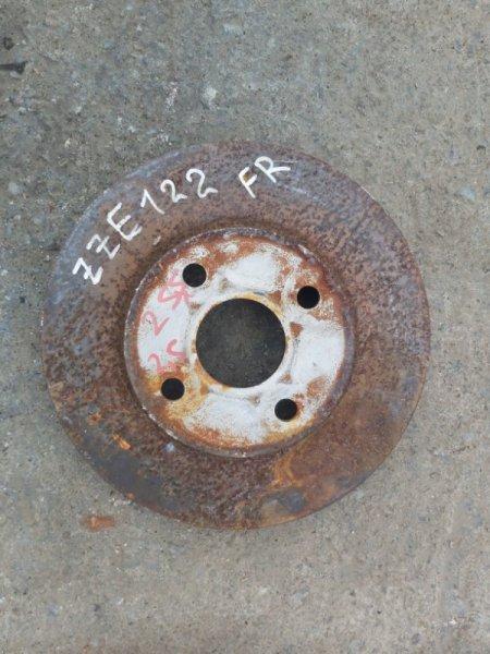 Тормозной диск Toyota Corolla Spacio ZZE122 1ZZ-FE передний правый (б/у)