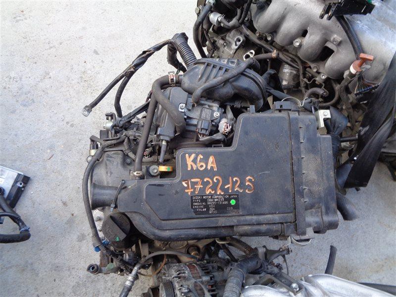 Двигатель Suzuki Wagon R MH23S K6A 7722125 (б/у)