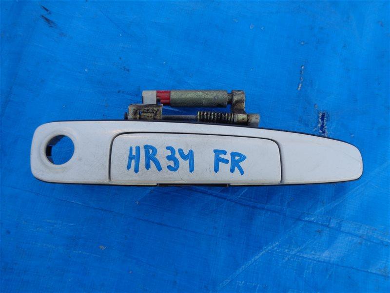 Ручка двери внешняя Nissan Skyline HR34 RB20 передняя правая (б/у)