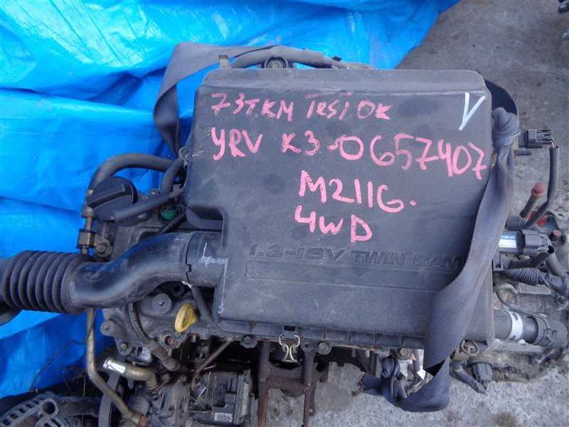 Двигатель Daihatsu Yrv M211G K3VE 0657407 (б/у)