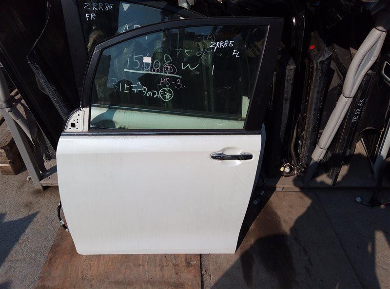 Дверь Toyota Esquire ZRR85 3ZR-FAE 01.2019 передняя левая (б/у)
