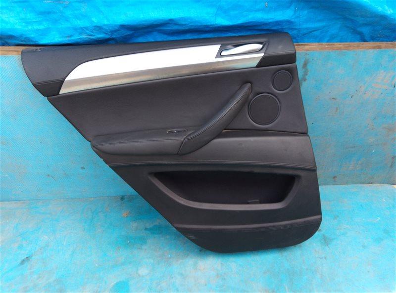 Обшивка дверей Bmw X6M E71 S63B44A 09.2011 задняя левая (б/у)