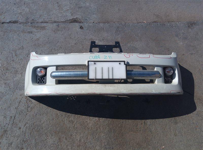 Бампер Nissan Cube Z11 HR15DE передний (б/у)