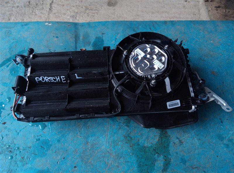 Радиатор охлаждения двс Porsche Cayman 982C DDNC 10.2017 задний левый (б/у)