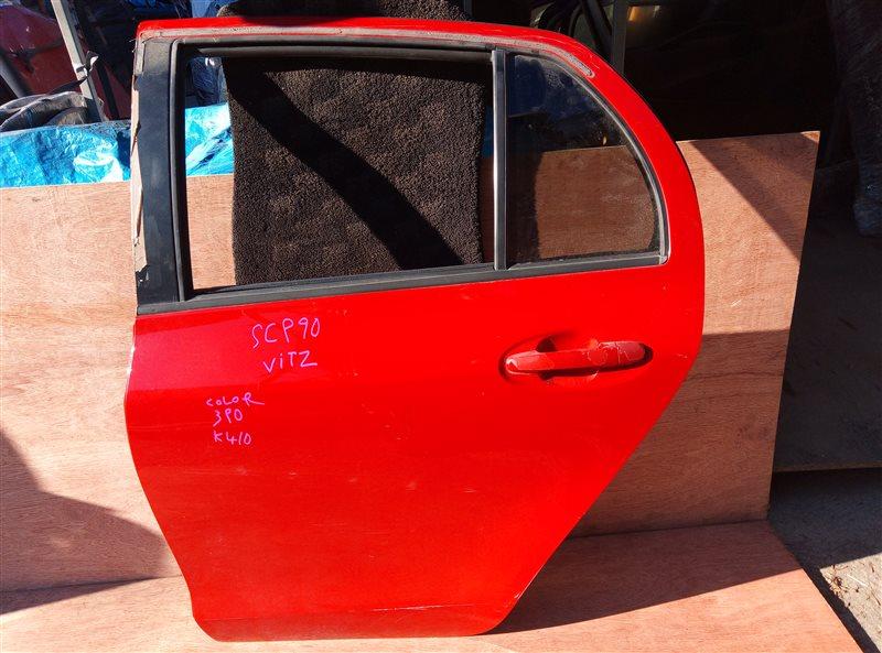 Дверь Toyota Vitz SCP90 задняя левая (б/у)
