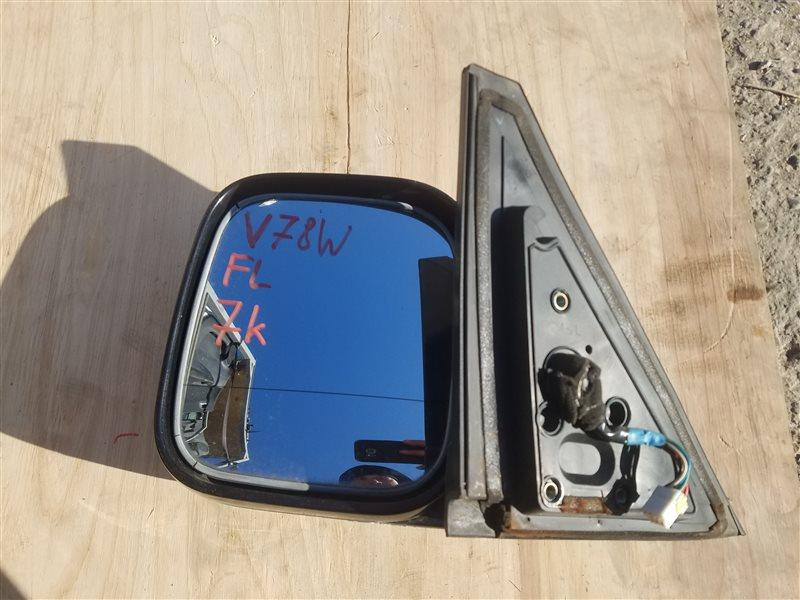 Зеркало Mitsubishi Pajero V77W переднее левое (б/у)