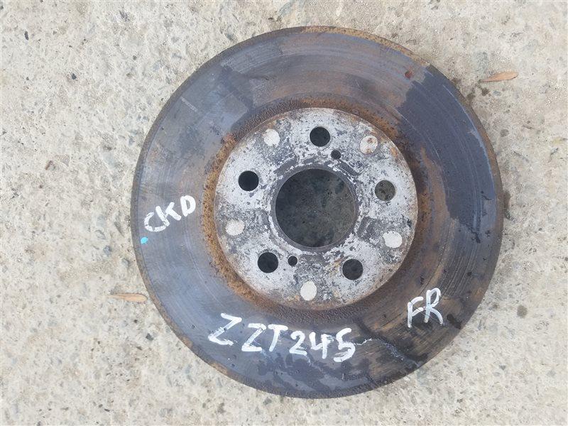 Тормозной диск Toyota Premio ZZT245 передний правый (б/у)