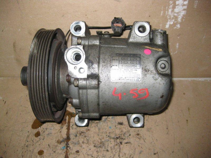 Компрессор кондиционера Nissan Bluebird EU14 SR18 Серебро