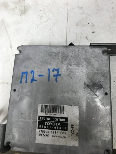 Блок управления efi Toyota Wish ZNE10 1ZZ
